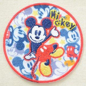 画像1: ワッペン ディズニー ミッキーマウス (ラウンド) * メール便可  [MY5501-MY326]