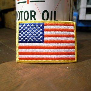 画像1: ワッペン アメリカ国旗(星条旗/スタンダード) *メール便可