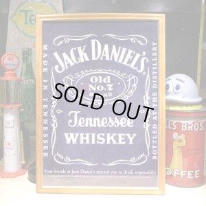 画像1: アメリカンレトロポスター(額入り) ジャックダニエル Jack Daniel's