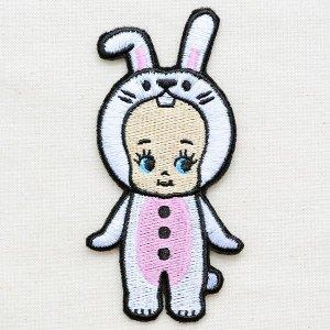 画像1: ワッペン キューピー 着ぐるみ(ウサギ) *メール便可