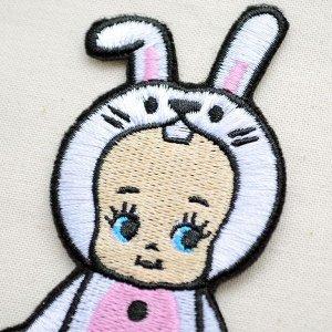 画像2: ワッペン キューピー 着ぐるみ(ウサギ) *メール便可