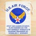 アメリカンロゴ巾着袋(L) USエアフォース(アメリカ空軍) U.S.Air Force *メール便可