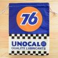 アメリカンロゴ巾着袋(L) 76ルブリカンツ(ナナロクオイル) *メール便可