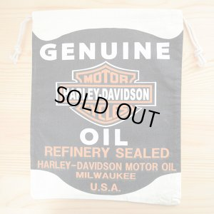 画像1: アメリカンロゴ巾着袋(L) ハーレーダビッドソン Harley-Davidson *メール便可