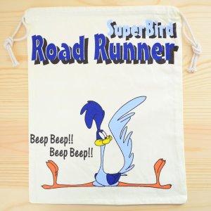 画像1: アメリカンキャラ巾着袋(L) ロードランナー Road Runner *メール便可