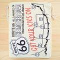 アメリカンロゴ巾着袋(L) ルート66 Route66 *メール便可