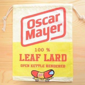 画像1: アメリカンロゴ巾着袋(L) オスカーメイヤー Oscar Mayer *メール便可