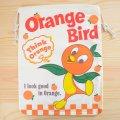アメリカンロゴ巾着袋(L) オレンジバード Orange Bird *メール便可