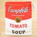 アメリカンロゴ巾着袋(L) キャンベルトマトスープ Campbell's *メール便可