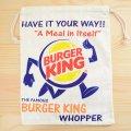 アメリカンロゴ巾着袋(L) バーガーキング Burger King *メール便可