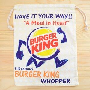 画像1: アメリカンロゴ巾着袋(L) バーガーキング Burger King *メール便可