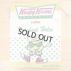 画像1: アメリカンロゴ巾着袋(L) クリスピークリームドーナツ Krispy Kreme *メール便可