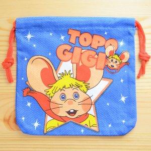 画像1: アメリカンキャラ巾着袋(S) トッポジージョ Topo Gigio *メール便可