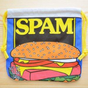 画像1: アメリカンロゴ巾着袋(S) スパム Spam *メール便可