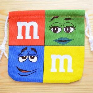 画像2: アメリカンキャラ巾着袋(S) M&M's エムアンドエムズ チョコレート *メール便可