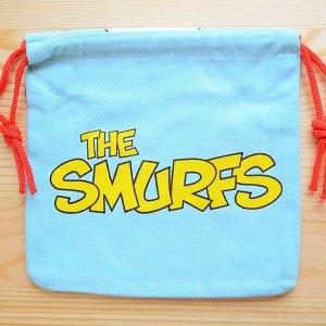 画像2: アメリカンキャラ巾着袋(S) スマーフ Smurf(きのこ) *メール便可