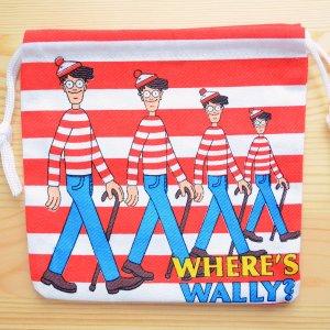 画像1: アメリカンキャラ巾着袋(S) ウォーリーをさがせ Wally *メール便可