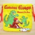 アメリカンキャラ巾着袋(S) おさるのジョージ Curious George *メール便可