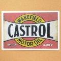 ガレージステッカー Castrol カストロール(ヨコ/レッド) シール アメリカン *メール便可
