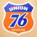 ガレージステッカー Union 76 Gasoline ナナロクオイル シール アメリカン *メール便可