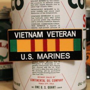 画像1: 磁石 VIETNAM VETERAN U.S. MARINES マグネット ユーエスマリンズ *メール便可