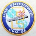 ミリタリーワッペン USS Enterprise CVN-65 戦艦 アメリカ海軍 ラウンド *メール便可