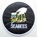 ミリタリーワッペン Seabees シービー 蜂 アメリカ海軍 建設工兵隊 *メール便可