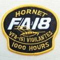 ミリタリーワッペン F/A-18 Hornet VFA-151 Vigilantes アメリカ海軍 ブラック *メール便可