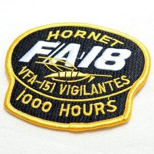 画像2: ミリタリーワッペン F/A-18 Hornet VFA-151 Vigilantes アメリカ海軍 ブラック *メール便可