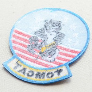 画像3: ミリタリーワッペン Tomcat トムキャット アメリカ海軍 戦闘機 キャラクター 星条旗 ライトブルー *メール便可