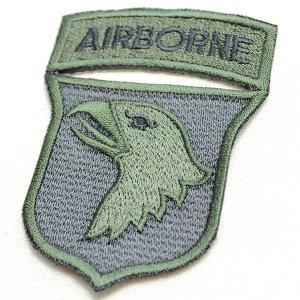 画像2: ミリタリーワッペン Airborne エアボーン イーグル エンブレム OD カーキ/ブラック *メール便可
