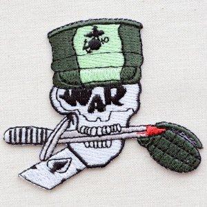 画像1: ミリタリーワッペン War Skull スカル どくろ *メール便可