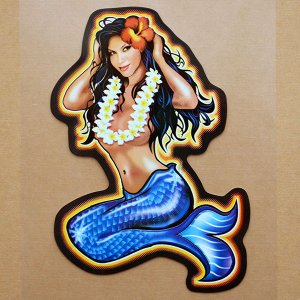 画像1: ハワイアンステッカー/シール ナルブルー(マーメイド/人魚) *メール便可