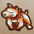 ハワイアンステッカー/シール ナルブルー(犬/ドッグ) *メール便可