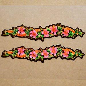画像1: ハワイアンステッカー/シール ナルブルー(ハイビスカスロング/2枚組) *メール便可