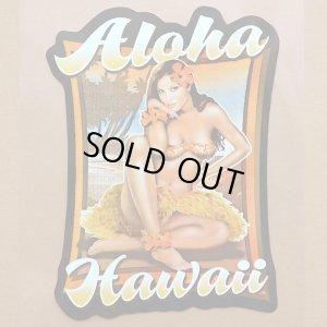 画像1: ハワイアンステッカー/シール ナルブルー(アロハハワイ/フラガール) *メール便可