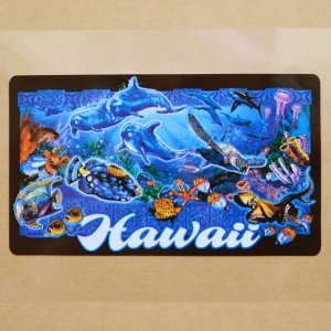 画像1: ハワイアンステッカー/シール ナルブルー(海の生き物たち) *メール便可