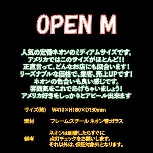 [送料無料] ネオンサイン Open オープン(M)