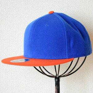 画像1: 帽子/キャップ オットー Otto フラットバイザー ウールブレンド(オレンジ×ロイヤルブルー)