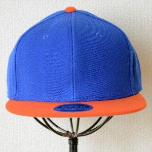 画像2: 帽子/キャップ オットー Otto フラットバイザー ウールブレンド(オレンジ×ロイヤルブルー)