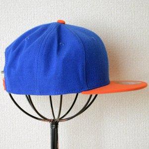 画像3: 帽子/キャップ オットー Otto フラットバイザー ウールブレンド(オレンジ×ロイヤルブルー)