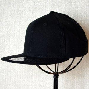 画像1: 帽子/キャップ オットー Otto フラットバイザー コットンツイル(ブラック)
