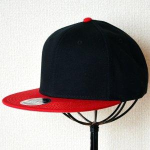 画像1: 帽子/キャップ オットー Otto フラットバイザー コットンツイル(レッド×ブラック)