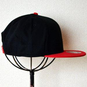 画像3: 帽子/キャップ オットー Otto フラットバイザー コットンツイル(レッド×ブラック)