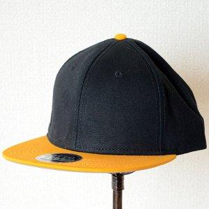 画像1: 帽子/キャップ オットー Otto フラットバイザー コットンツイル(イエローゴールド×ブラック)