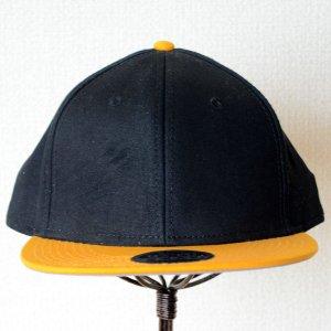 画像2: 帽子/キャップ オットー Otto フラットバイザー コットンツイル(イエローゴールド×ブラック)