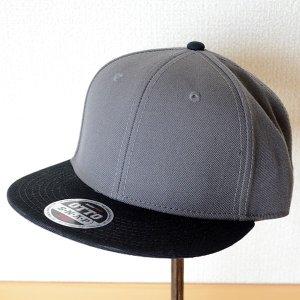 画像1: 帽子/キャップ オットー Otto フラットバイザー ウールブレンド(ブラック×チャコールグレー)