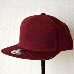 画像1: 帽子/キャップ オットー Otto フラットバイザー ウールブレンド(バーガンディ)
