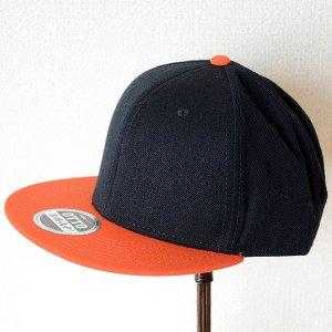 画像1: 帽子/キャップ オットー Otto フラットバイザー ウールブレンド(オレンジ×ブラック)