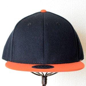 画像2: 帽子/キャップ オットー Otto フラットバイザー ウールブレンド(オレンジ×ブラック)